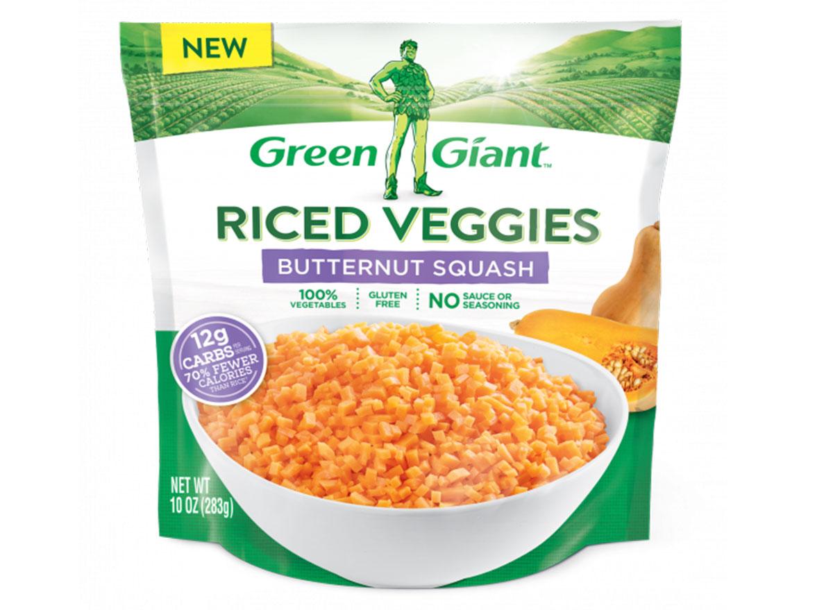 Green giant riced butternut squash bag