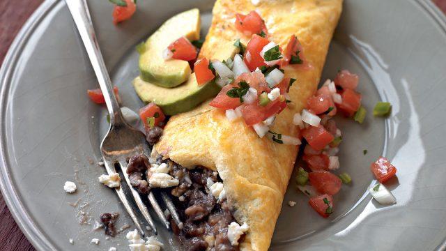 Black bean omelet