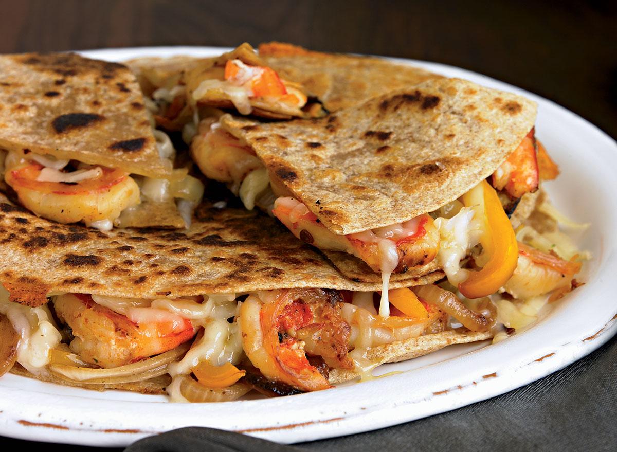 Chipotle shrimp quesadilla