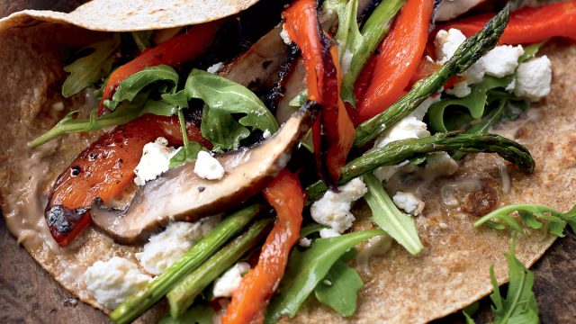 Healthy grilled vegetable wrap