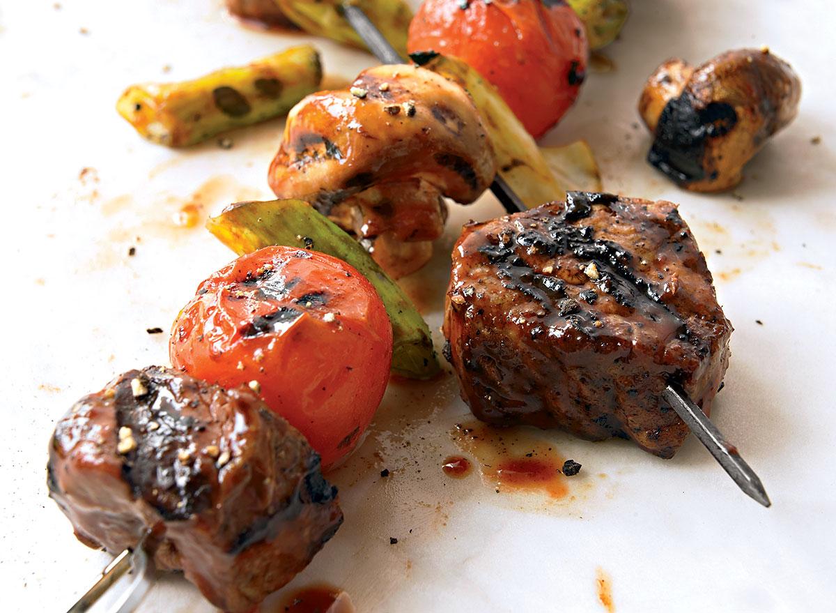 Hoisin beef kebab