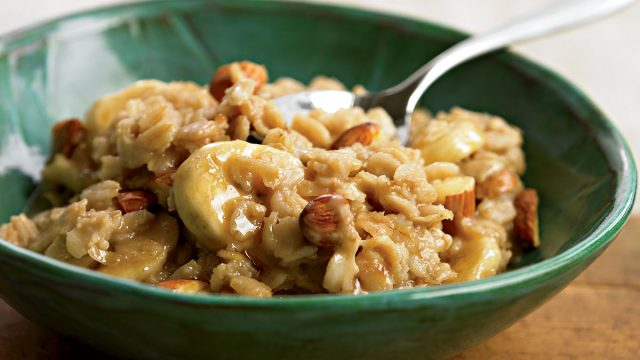 Oatmeal with peanut butter and banana recipe