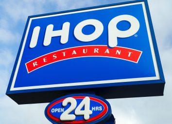 IHOP 24 hour sign
