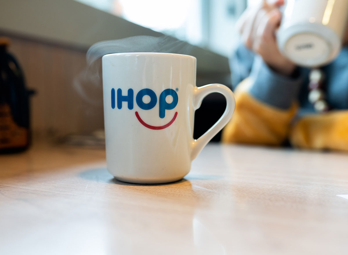 Ihop coffee mug steaming