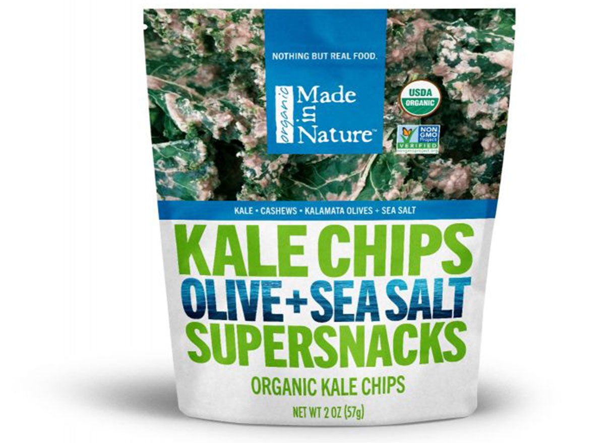 Made in nature kale chips bag