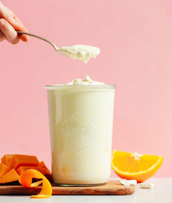 Mango coconut yogurt