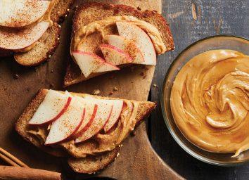 Maple cashew apple toast