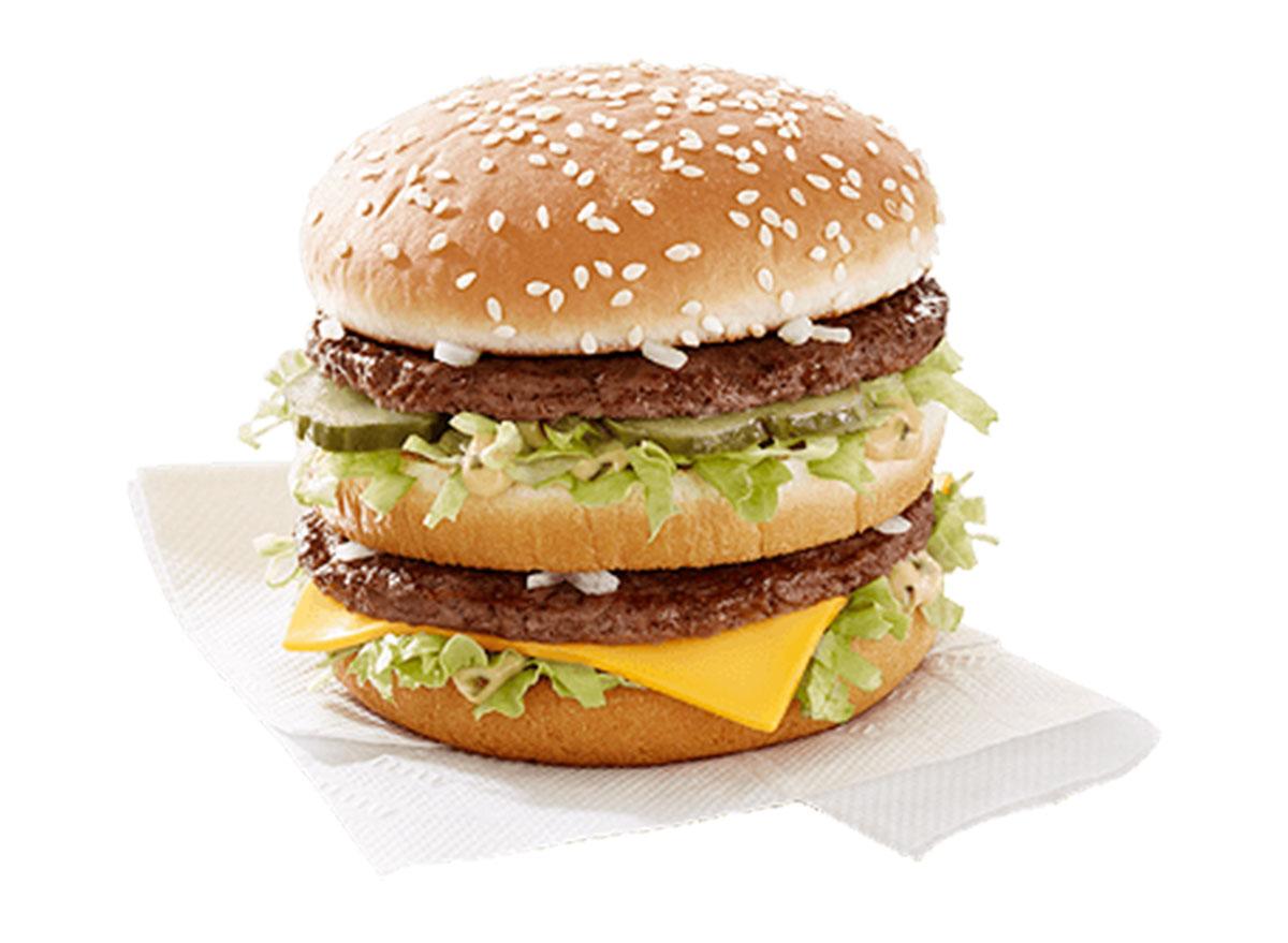 Big mac on napkin