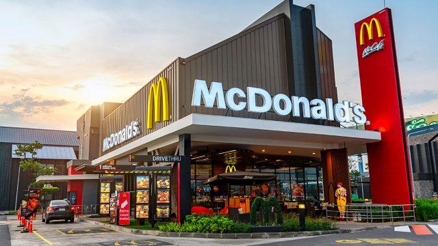 International mcdonalds restaurant