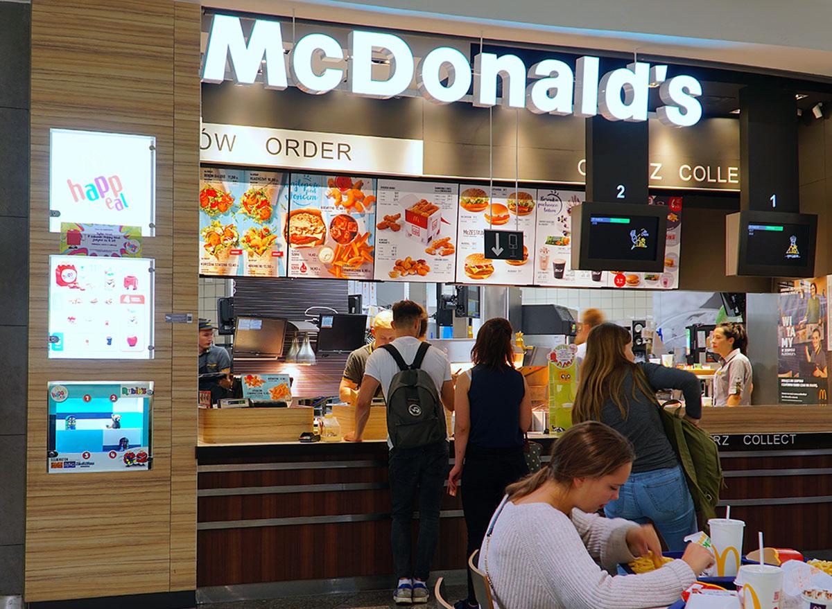 Mcdonald's food counter
