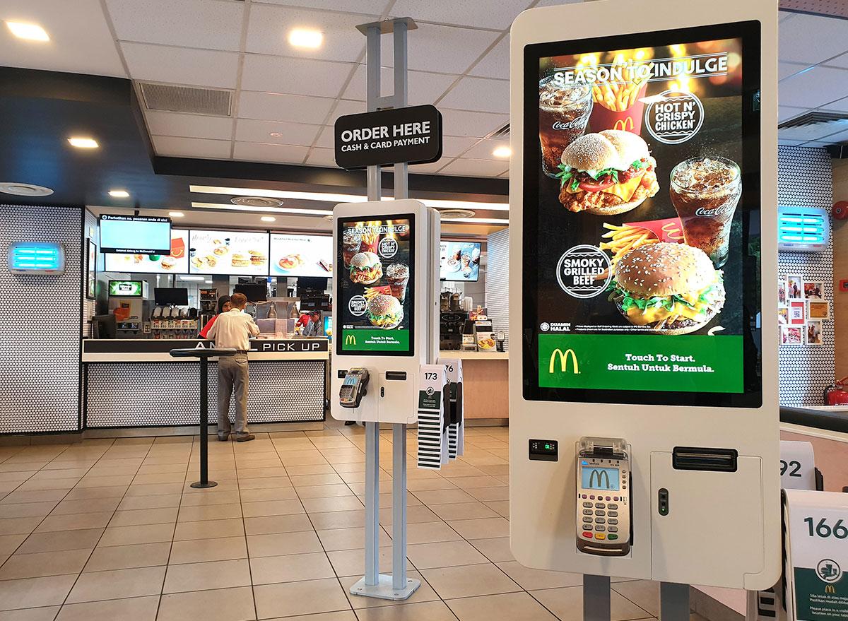 Mcdonalds ordering stations