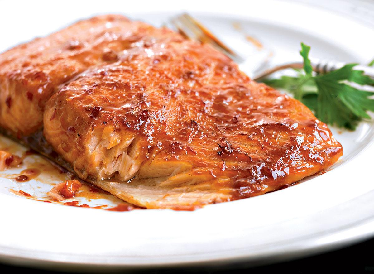 Paleo chili-glazed salmon