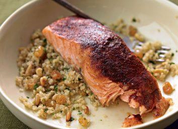 Paleo moroccan salmon with quinoa
