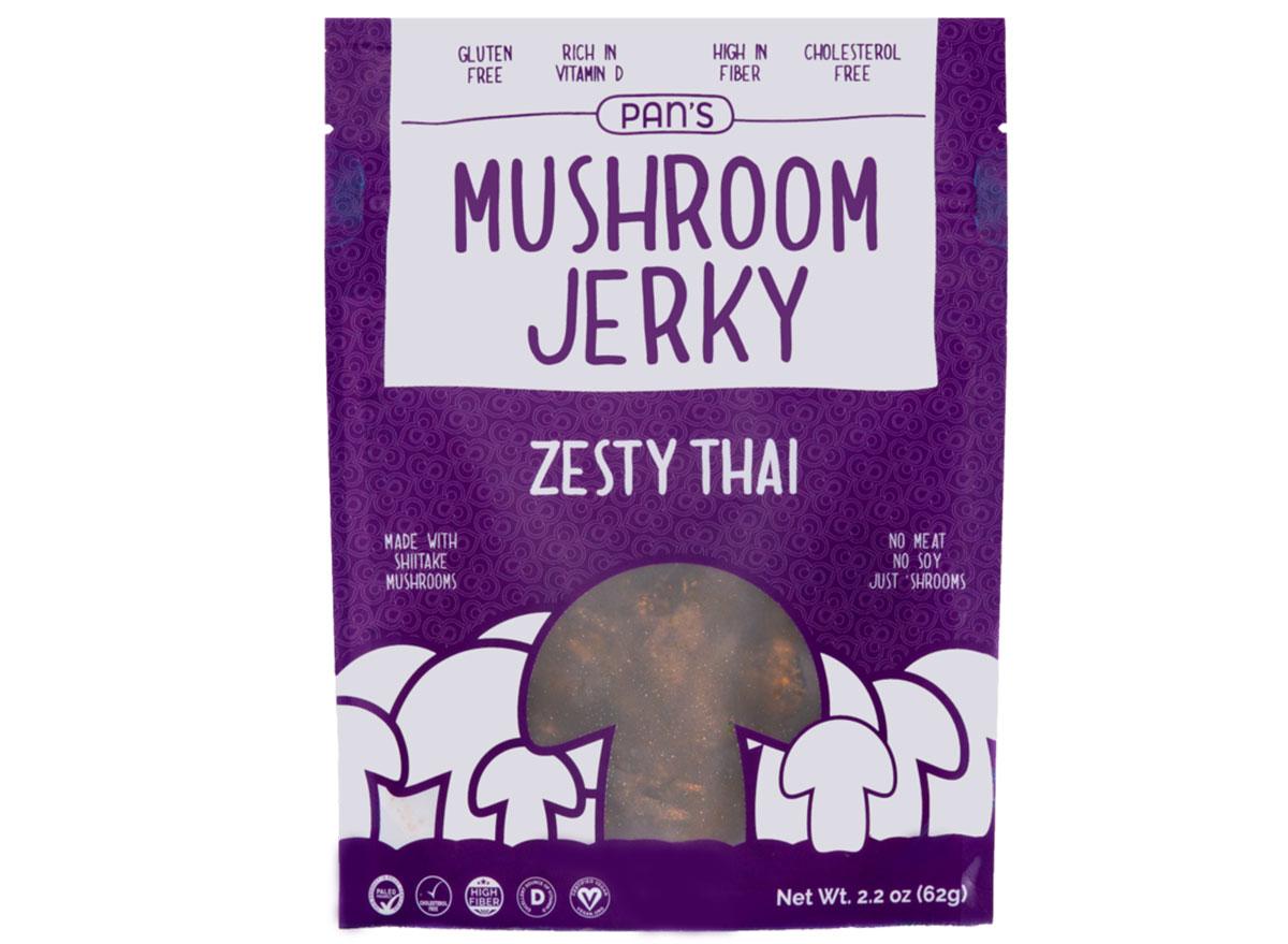 Pans zesty thai mushroom jerky bag