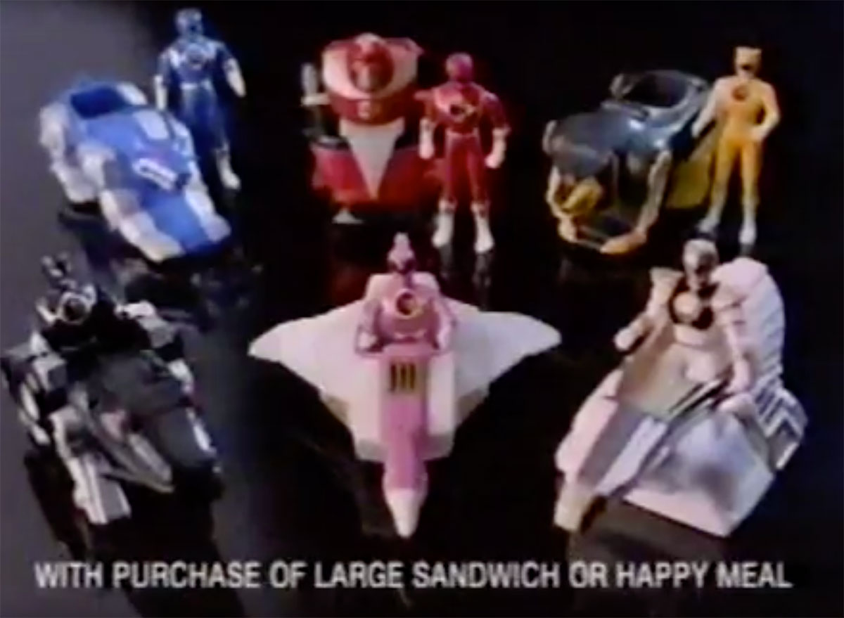 power rangers happy meal toys