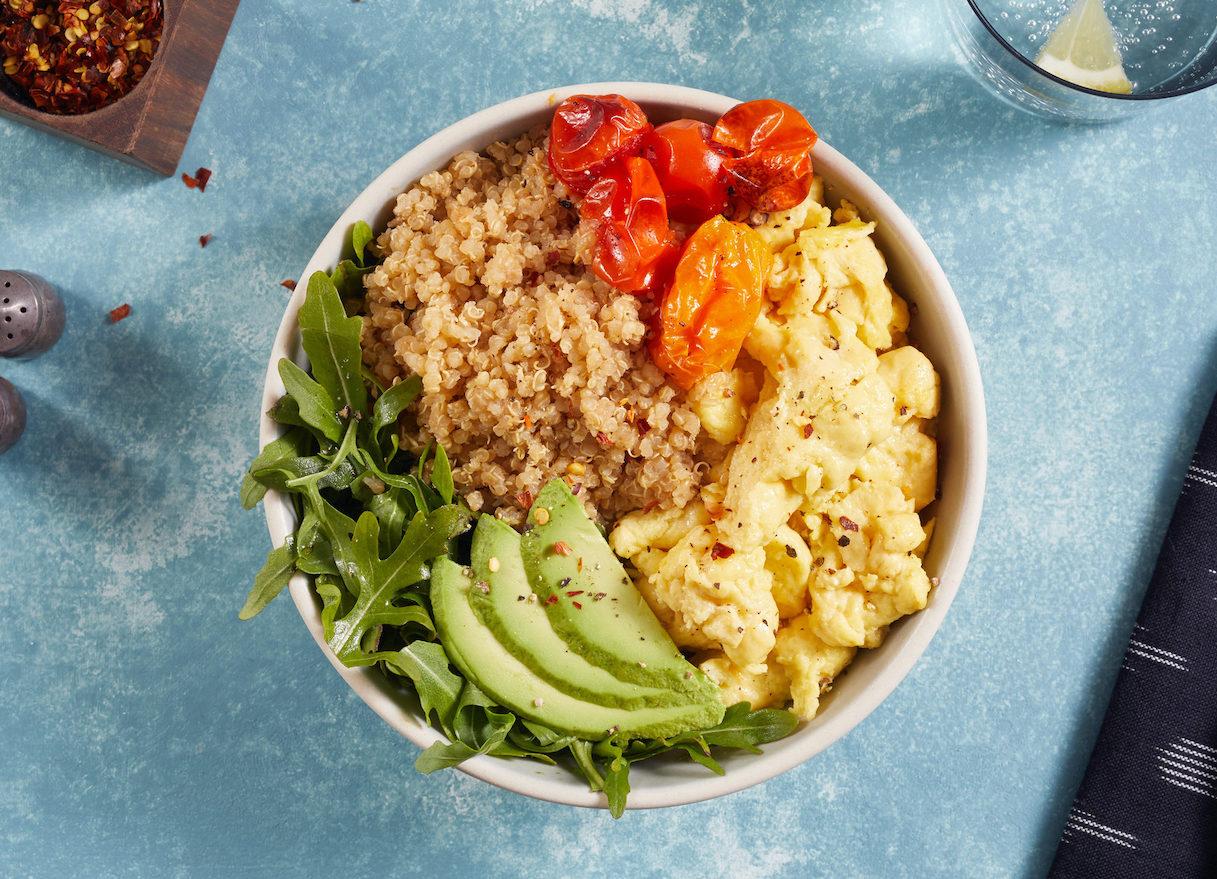 quinoa bowl Just Egg