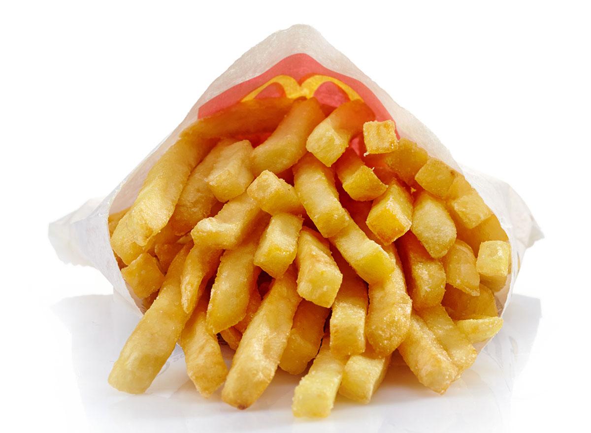 Front of mcdonalds fries