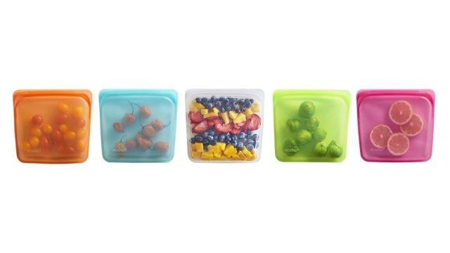Stasher silicone multicolored bags
