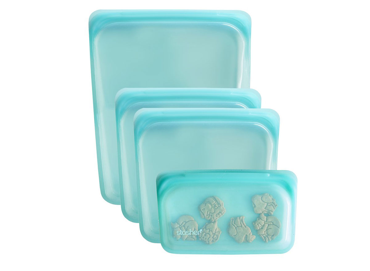 Stasher silicone bags in different sizes