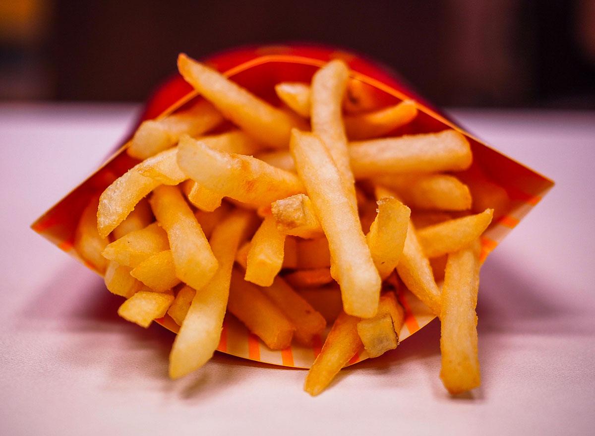 Straight on mcdonalds fries