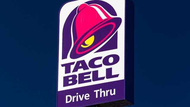 Taco bell drive through sign
