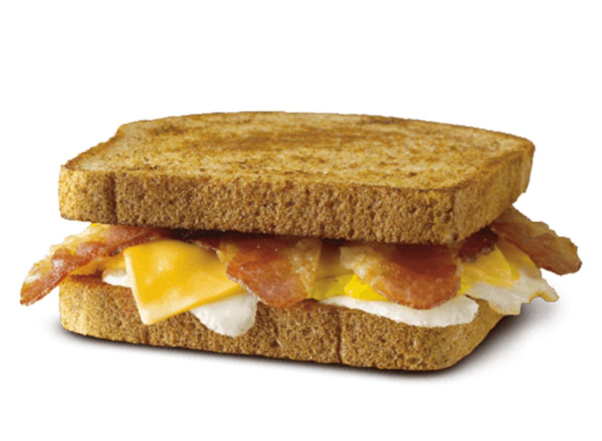 Bacon egg cheese toast sandwich