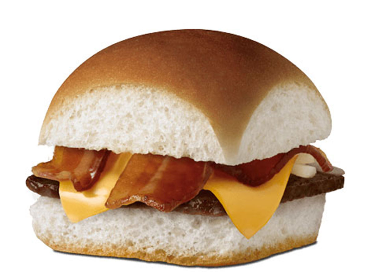 Bacon cheese slider