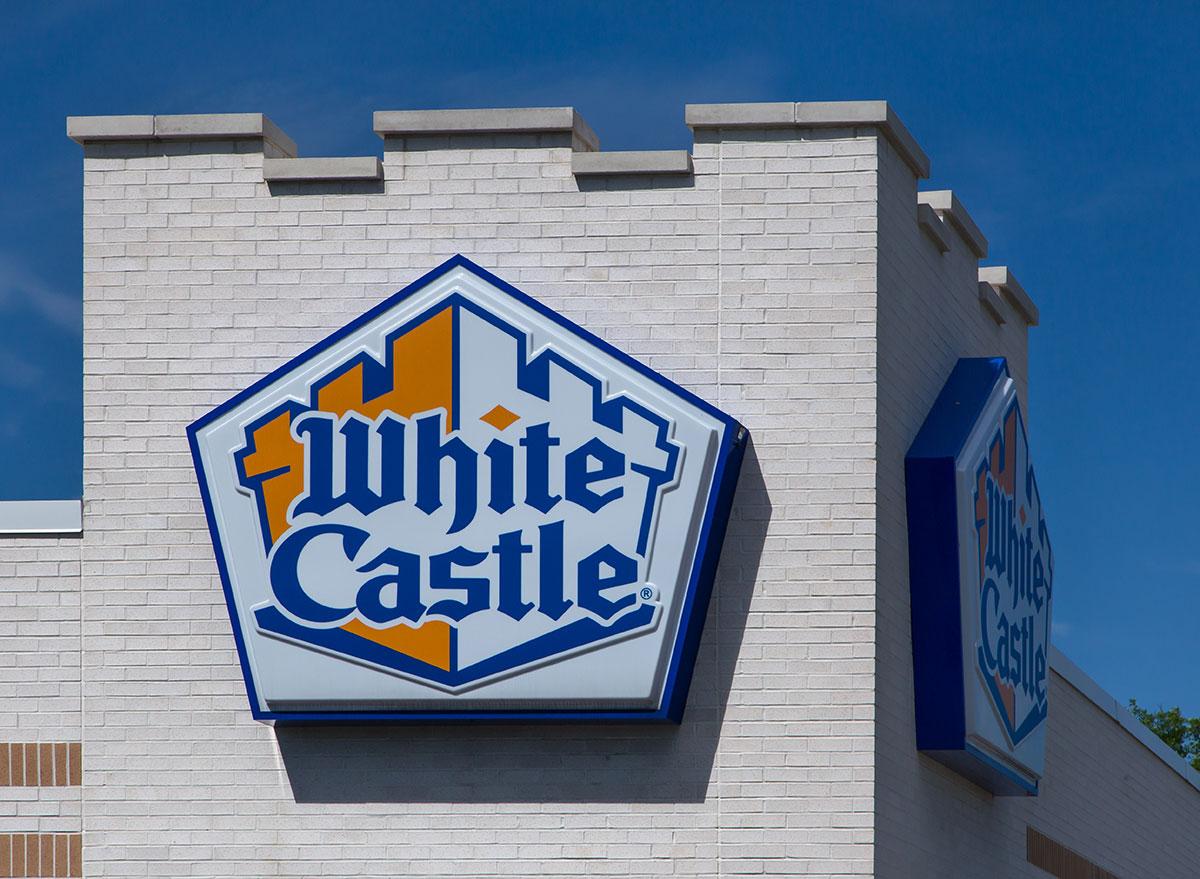 White castle logo on restaurant