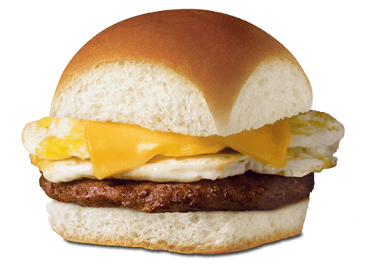 Sausage egg cheese slider