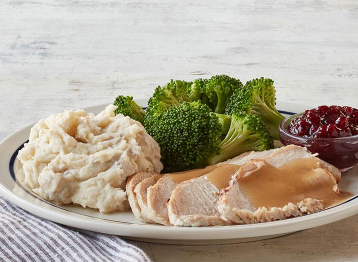 55+ roasted turkey dinner
