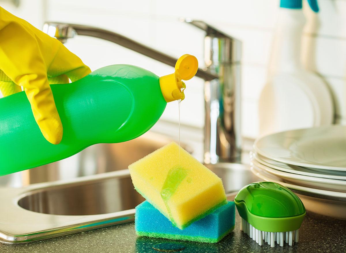 Adding soap