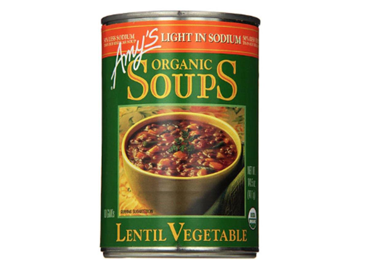 Amy's lentil vegetable soup can