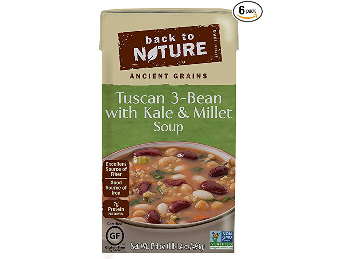 Back to nature tuscan 3 bean with kale and millet soup bx