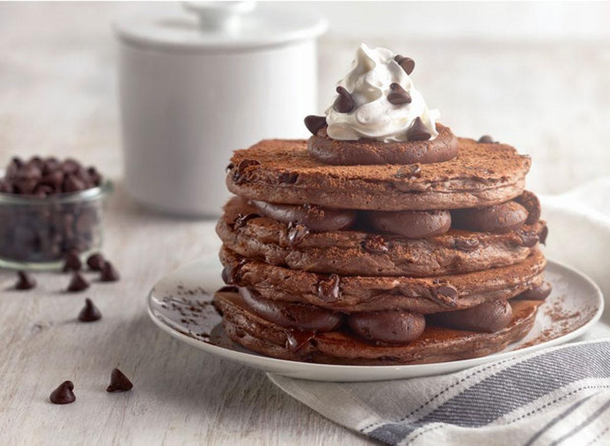 Belgian chocolate pancakes