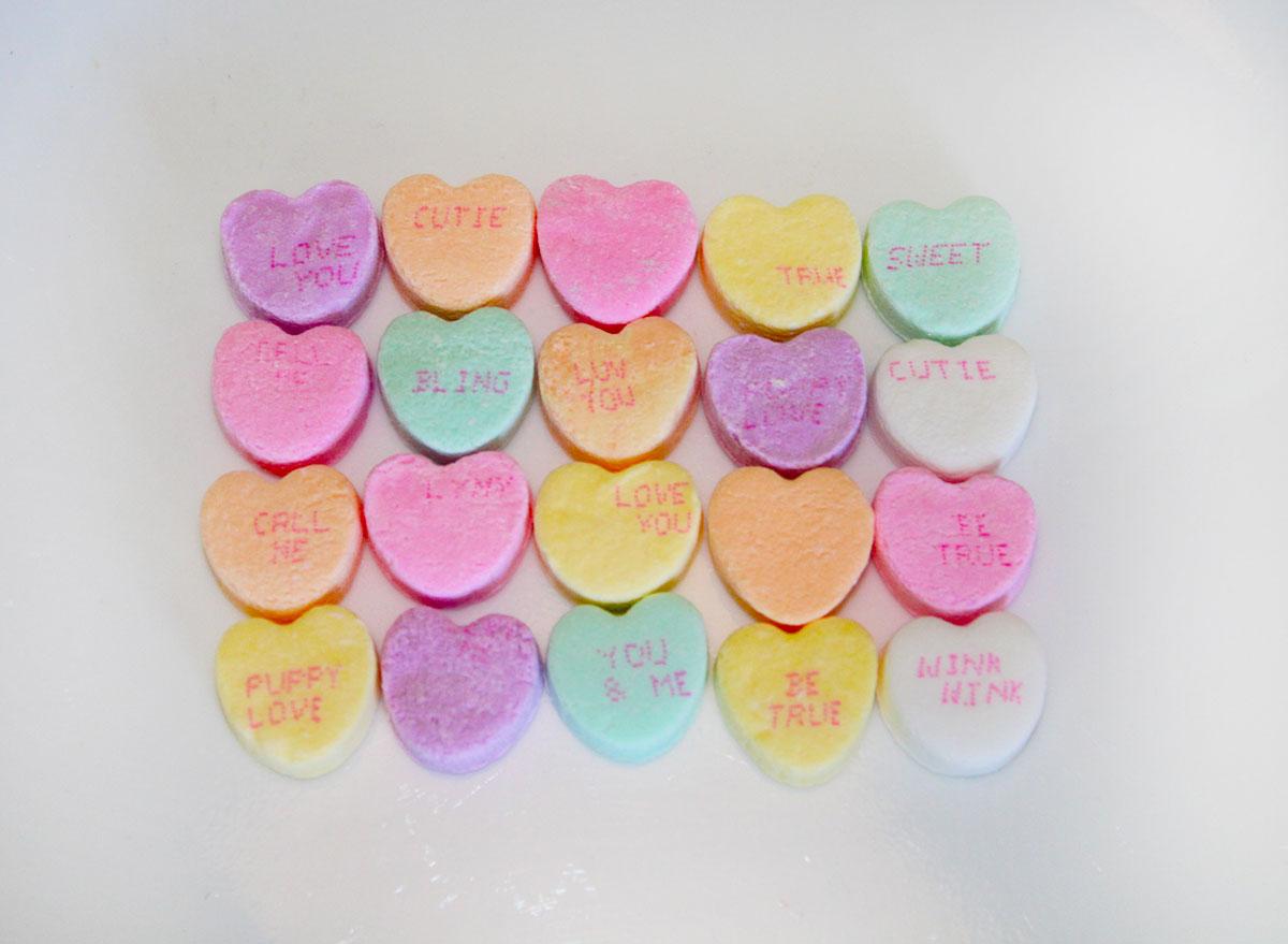 Brach's tiny conversation hearts, assorted flavors,