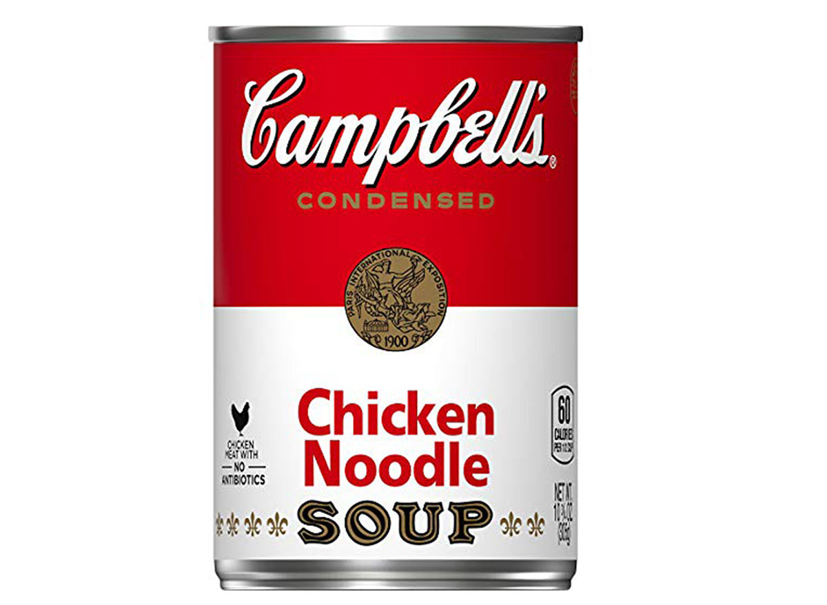 Campbell's chicken noodle soup can