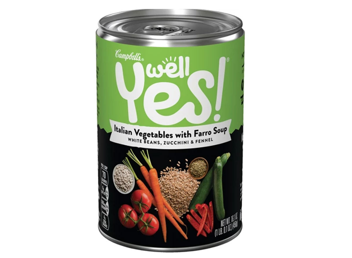 Campbell's well yes italian vegetable with farro soup