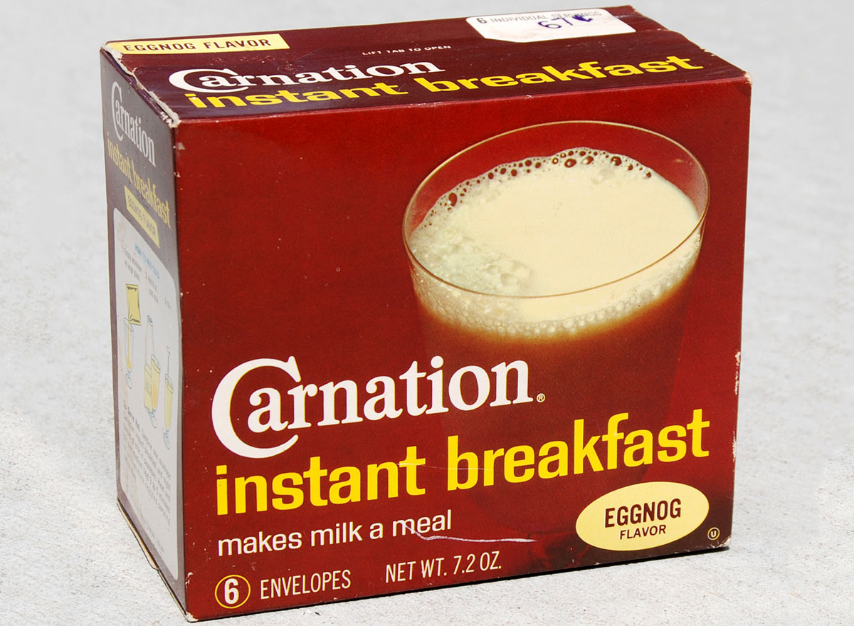 Carnation instant breakfast eggnog flavor