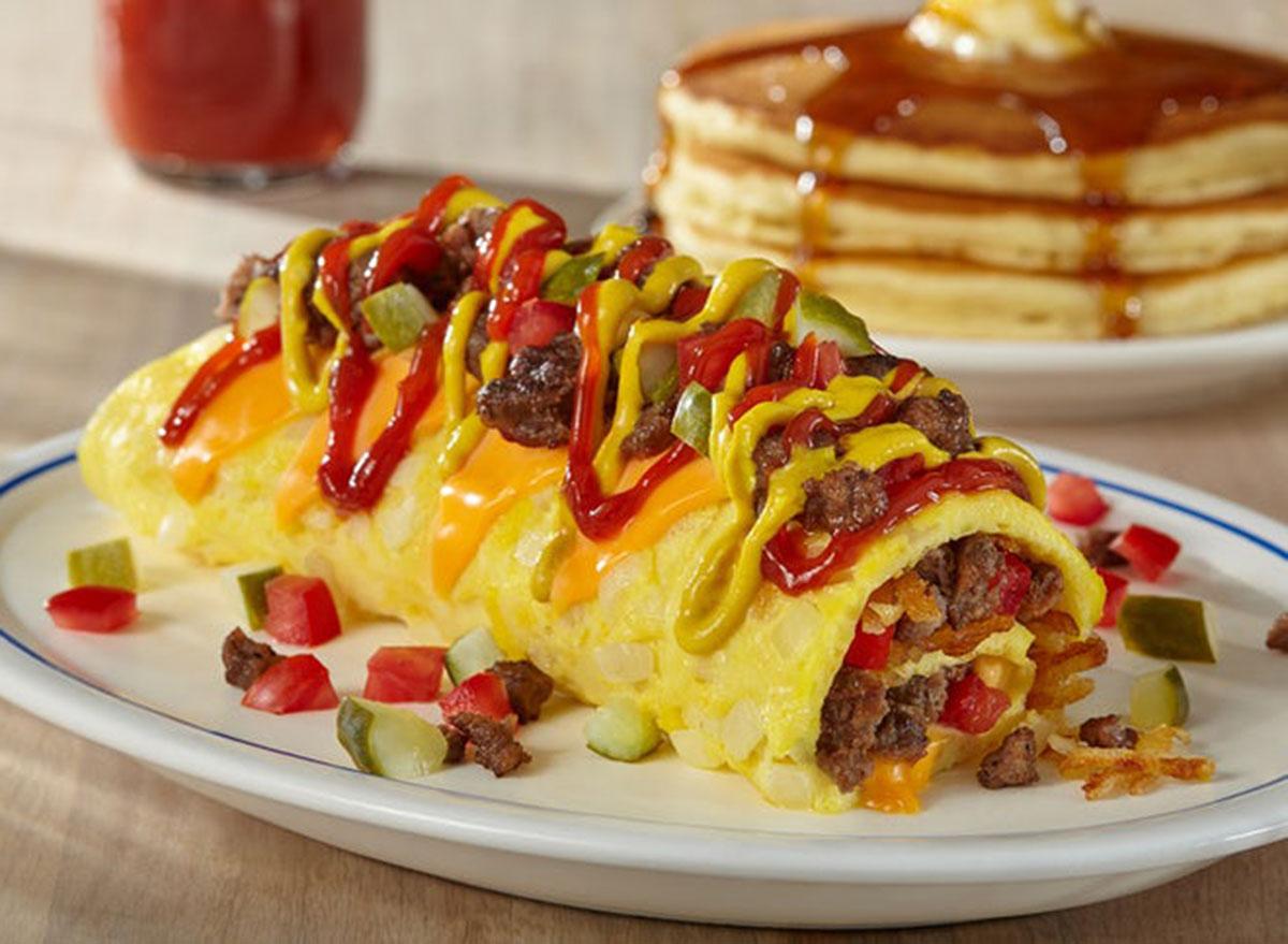 Cheeseburger omelet