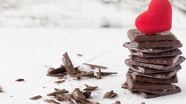 Chocolate under a heart