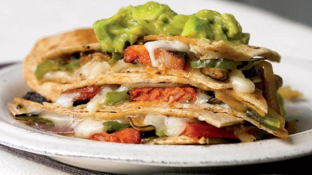 Crispy quesadillas with guacamole