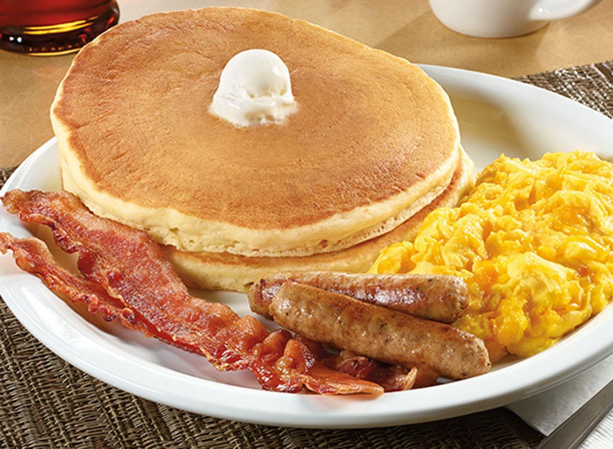 55+ scrambled eggs & cheddar breakfast