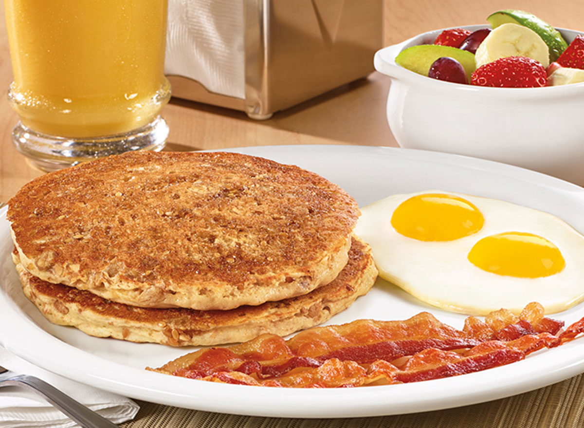 Hearty 9-grain pancake breakfast