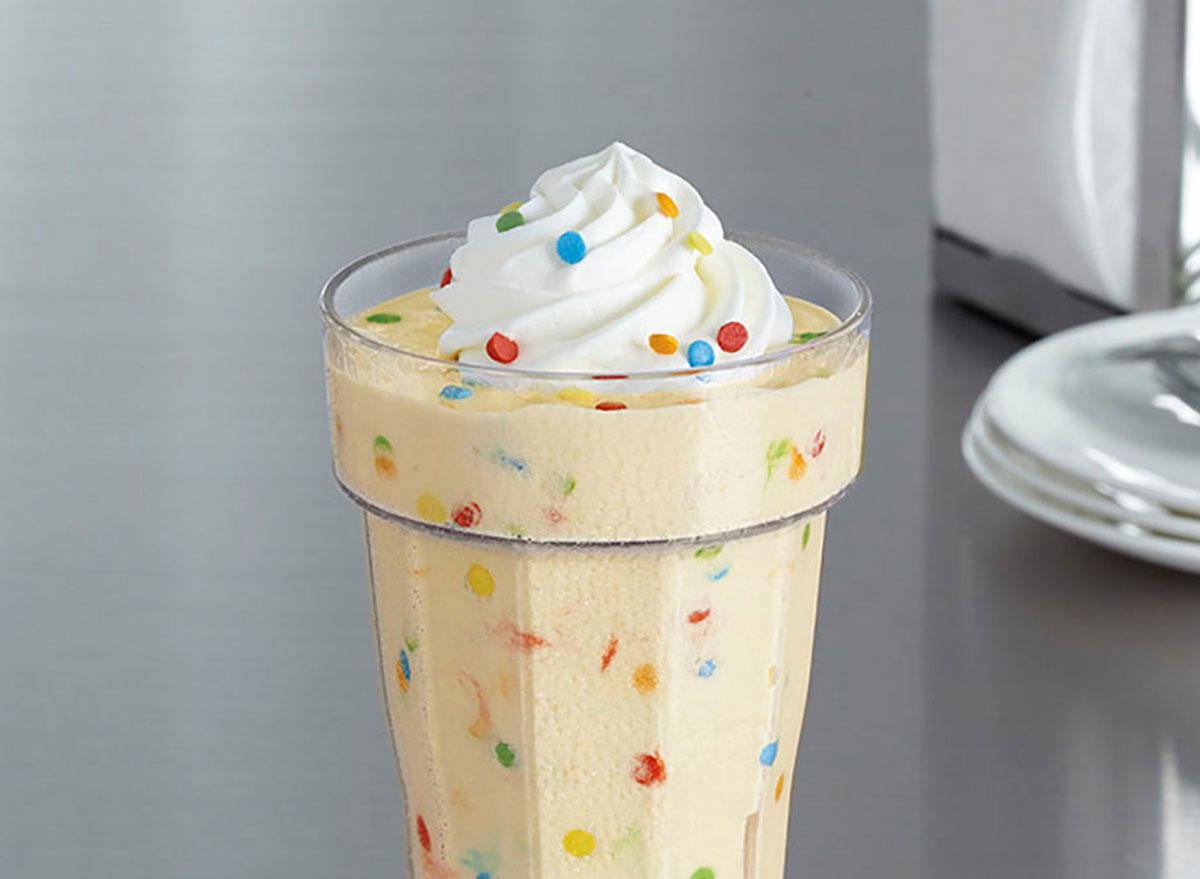 Jr. cake batter milkshake