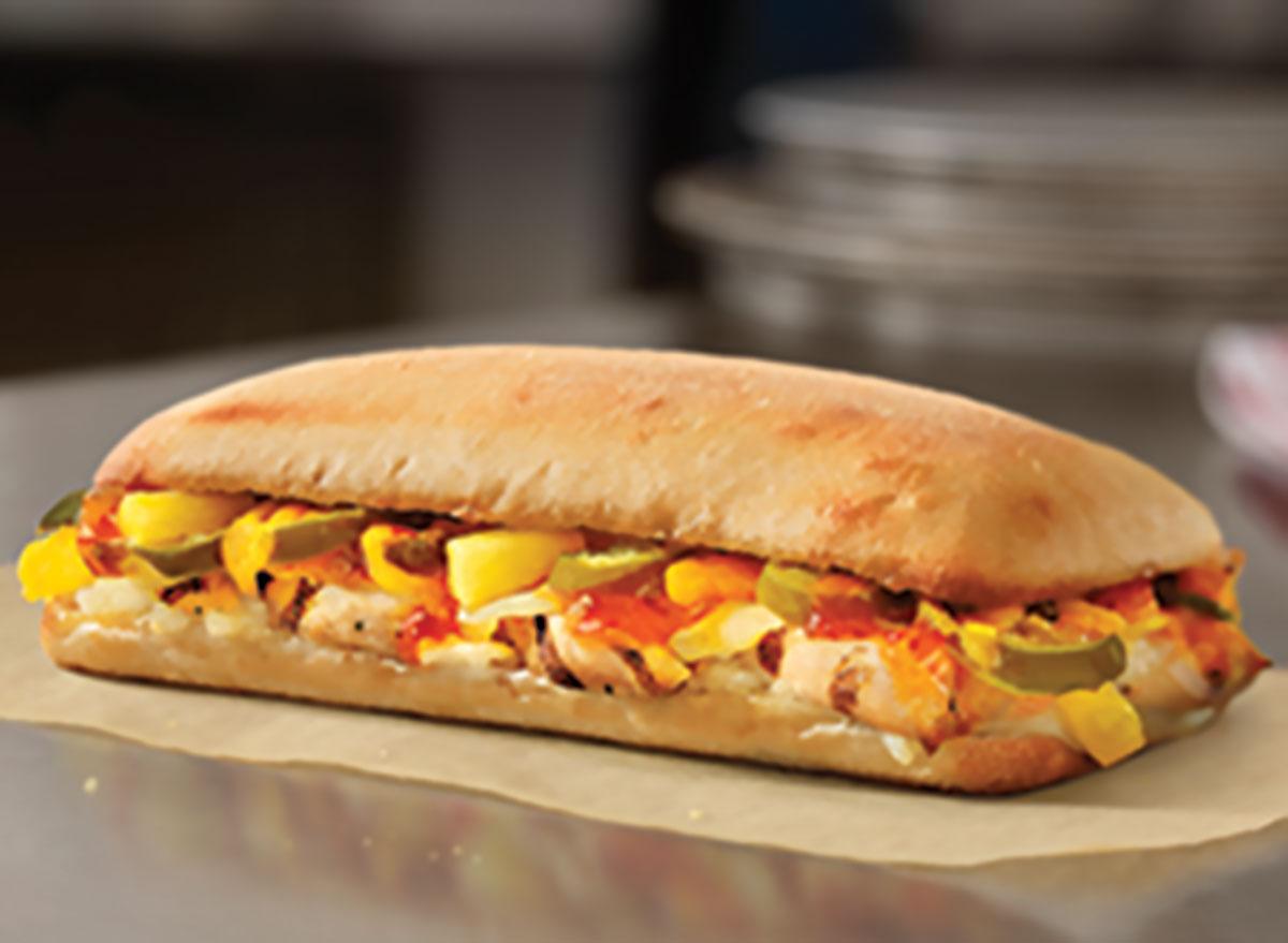 Chicken habanero sandwich
