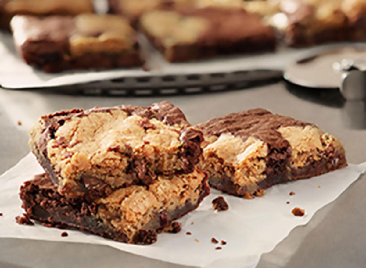 Marbled cookie brownie