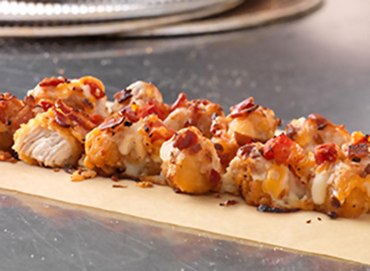 Crispy bacon tomato specialty chicken