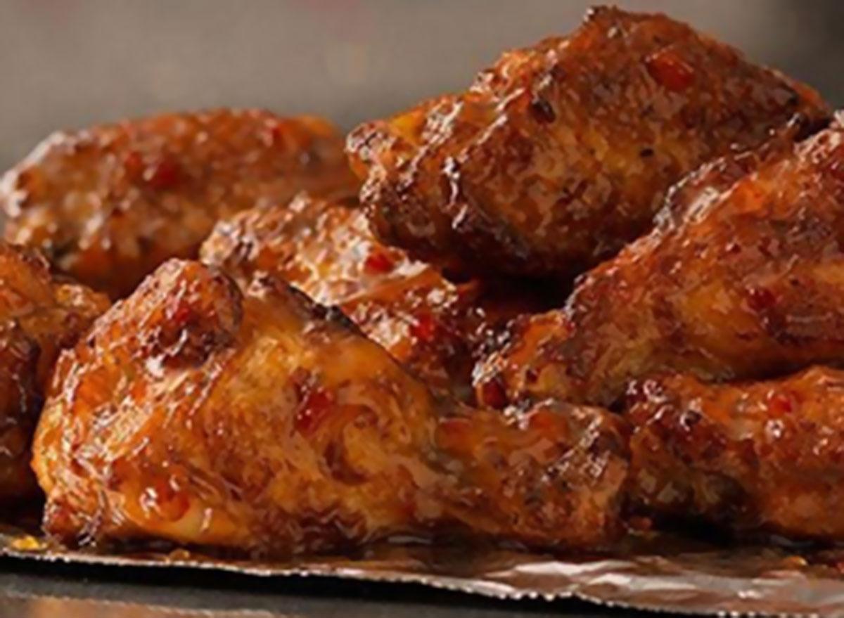Sweet mango habanero wings