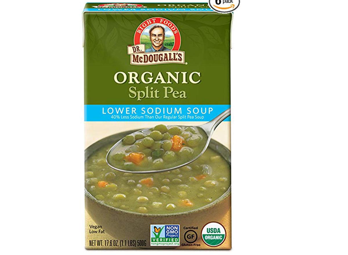 Dr. mcdougall's organic split pea soup box