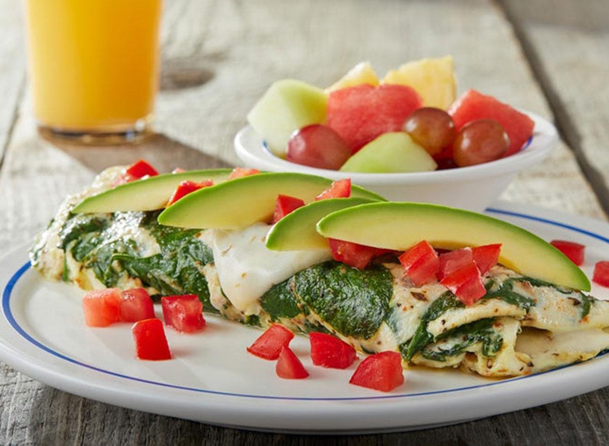 Egg white vegetable omelet